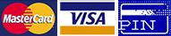 mastercard - visa - pin